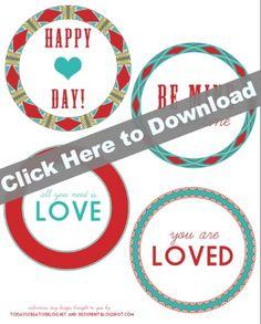 Printable Valentine Tags   TodaysCreativeBlog.net