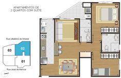 Planta - Apartamento (2). Edifício Isidoro Hillmann, Rua José de Alencar, 121, Cristo Rei/Alto da XV, Curitiba - Paraná. www.valorrealinvestimento.com.br/
