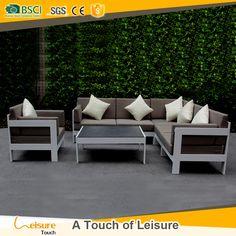 Whtie powder coated aluminum furniture modular outdoor sectional sofa
