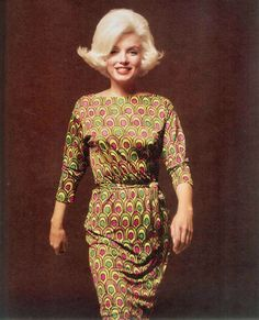 Marilyn Monroe as a 1960s woman. Photos by Bert Stern, 1962.