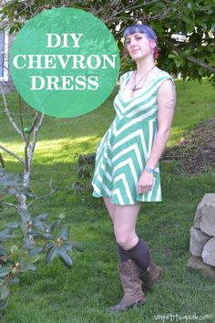 DIY Chevron Dress: Tutorial by Un Petit Squab