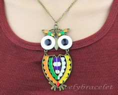 Classical owl necklace jewelry charm necklace by lovelybracelet, $3.99