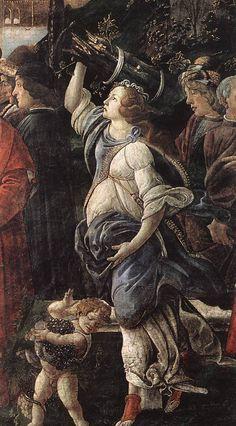 SANDRO BOTTICELLI (1445-1510) The Temptation of Christ (detail) Fresco. Sistine Chapel.