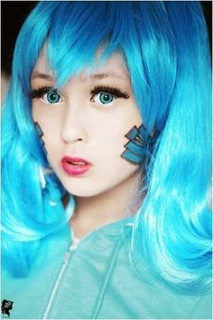 """Ene is an anime cheeky character from """"Kagerou Project"""". She owns special """"Opening Eyes"""" & supernatural abilities.  To mimic Ene's character; follow the makeup tutorial here."""