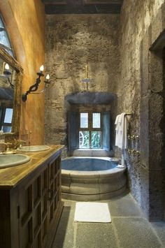 Get inspired by awesome photos about tuscan style homes design & house plans.decor ideas for mediteranean design house (color, furniture, etc) Dream Bathrooms, Beautiful Bathrooms, Modern Bathrooms, Romantic Bathrooms, Country Bathrooms, Tuscan Style, Tuscan Design, Architecture, Design Case