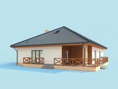 Projekt domu Alexandria dom jednorodzinny 133,79 m2 - koszt budowy - EXTRADOM Home Fashion, Gazebo, Outdoor Structures, Cabin, House Styles, Houses, Home Decor, Projects, Homes