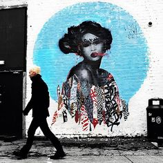 Earlier today, Hush spent a few hours working on this new mural on the streets of Newcastle, UK.