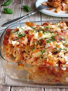 Baked Ziti with Ricotta sub with gluten free pasta! Baked Ziti with Ricotta sub with gluten free pasta! Baked Ziti With Ricotta, Easy Baked Ziti, Baked Ziti Chicken, Recipes With Ricotta Cheese, Baked Ziti Healthy, Ricotta Pasta Bake, Lasagna Recipe With Ricotta, Baked Penne, Baked Food