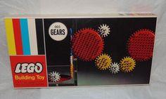 Vintage 1965 Lego Building Toy 001 Gears MINT Original Box Unopend MIB Samsonite #Lego