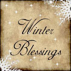 Sign | winter blessings