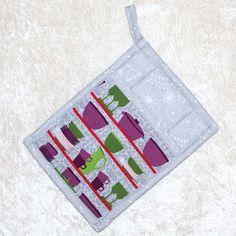 Pocket Pot Holder • Hot Pad • Gray Potholder • Purple Oven Mitt • Fabric Potholder • Trivet • Purple Dutch Oven • Purple • Green • Gray