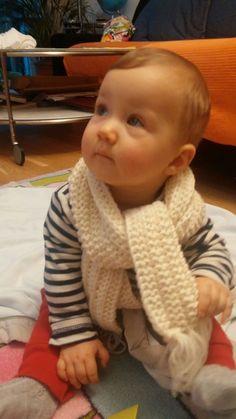 Kinderschal mit Fransen - Strickanleitung Kinderschal - Schal stricken