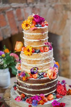Los mejores pasteles de boda. Tendencias pastel de boda. Las mejores ideas de pastel de bodas. Conoce todo de las tortas para matrimonio, tortas de bodas. Pretty Cakes, Beautiful Cakes, Amazing Cakes, Stunningly Beautiful, Bolo Nacked, Nake Cake, Bolos Naked Cake, Summer Wedding Cakes, Spring Weddings