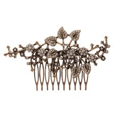 Claire's Accessories Bronze and Crystal Vine Hair Comb -- More info could be found at the image url.
