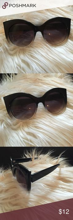 NEW trendy ombré sunglasses Great for spring and summer! Never worn, only to model them Urban Outfitters Accessories Sunglasses