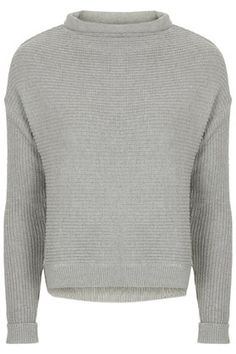 Slouchy Neck Ribbed Jumper (topshop)