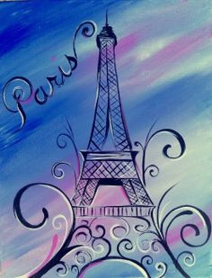 canvas painting paris theme - Google Search