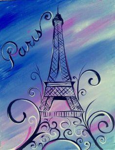 canvas painting paris theme - Google Search