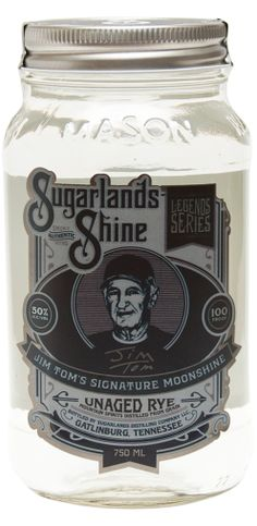 Jim Tom Hedrick's Unaged Rye   Sugarlands Distilling Company