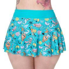 Banned Unforgettable bikini broek/rokje met zeemeerminnen print aqua b