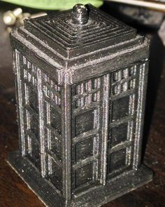 Whovians rejoice! I have constructed a TARDIS. #doctorwho #3dprinting #3dprinted by williamgoeller