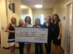 Starkey Mortgage presents check for $5,250.00 to KW Cares, a public charity which provides emergency financial assistance to Keller Williams Realty associates in need.  Pictured from L to R: Pam Temple (Team Leader, KW), Michelle Graves (Agent, KW), Andrea Kindley (Branch Manager, Senior Loan Officer, Starkey Mortgage), Mari LaPrelle (Lead Listing Agent, Team Leader, KW), Patti Mikita (Buyer Specialist, KW), Debra Watt (Senior Vice President, East Regional Manager, Starkey Mortgage).