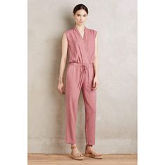 Cloth & Stone Mignon Crossfront Jumpsuit ($80) ❤ liked on Polyvore featuring jumpsuits, lilac and jump suit