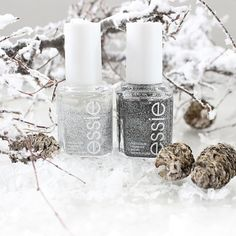 Don't let anyone take away your sparkle. Essie's white and silver nail glitter polish light up any mani!
