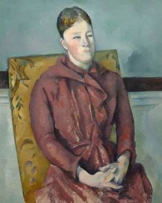 size: Giclee Print: Madame Cézanne in a Yellow Chair, by Paul Cezanne : Greece Tourist Attractions, Chicago Museums, Life Size Statues, Chicago Travel, Paul Cezanne, All Art, Framed Artwork, Giclee Print, Canvas Prints