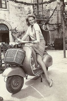 Vespa vintage, Angie Dickenson