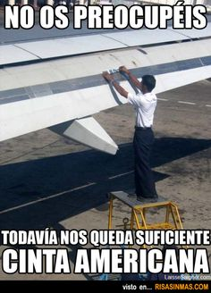 Según todas las encuestas el avión es el medio de transporte más seguro.... ¡Ejemmm!, Esto.... quizás no lo sea en todos los sitios.