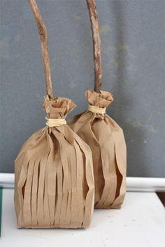 DIY CRAFTS Paper Bag Broom Favors