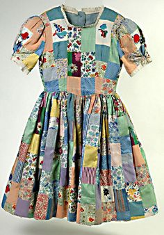 The dress pictured was made for a little girl called Jane by her mother in 1944 after an unexpected invitation to a children's party. By this stage of the Second World War, parties were unusual as there were significant food shortages and many children had been separated from family and friends after being evacuated.    At this time, new party dresses would have been very difficult to obtain as clothing was rationed, and cost money as well as precious coupons.