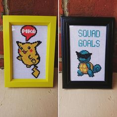 Squad Goals! #Pokemon #crossstitch by @http://culturecraftingpic.twitter.com/E1LhAJPNhH