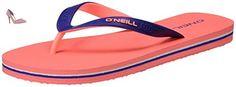O'Neill  Fw Basic, tongs femme - rose - Pink (Fluoro Peach), - Chaussures oneill (*Partner-Link)