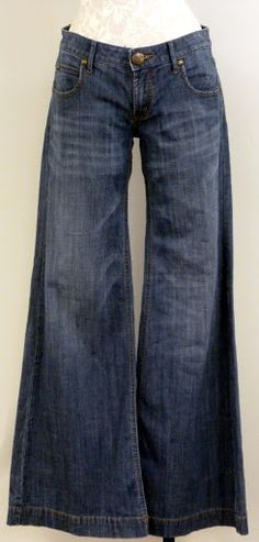 fashion ; vintage Bell Bottom Jeans. Had a pair just like these in 1979....