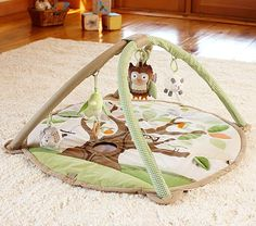 Owl Activity Gym    Bryan loves his! So much to play with and mirror on the bottom is great for tummy time!