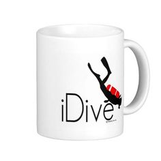 Shop idive coffee mug created by Personalize it with photos & text or purchase as is! Gifts For Scuba Divers, Photo Mugs, Funny Jokes, Coffee Mugs, Cool Designs, Make It Yourself, Prints, Husky Jokes, Coffee Cups