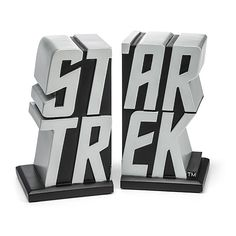 Star Trek Logo Bookends | ThinkGeek