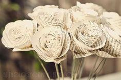 bouquet mariée papier