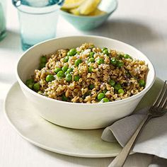 Freekeh Salad Similar to bulgur, this whole-grain supper food is easy to cook, and packed full of protein and fiber.