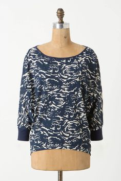 Dual patterned dolman, the back is striped!