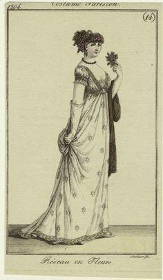 Fashion plate, 1804, Costume Parisien