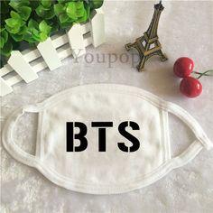 Korean Pop KPop Fan BTS Bangtan Boys Letter Dust Cover mouth trendy fashion Face Subway Downtown