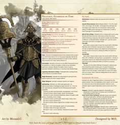 [5e][Homebrew][Creature] Velstadt, Guardian of Time v1.1