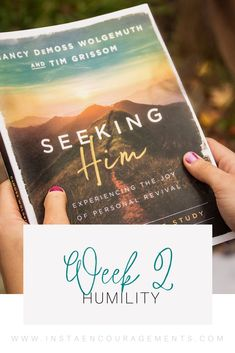 Welcome to our Summer 2021 #Book Club-Style Bible Study! We are using the book Seeking Him by Nancy DeMoss Wolgemuth and Tim Grissom. The way down is the only way up. We live in an upside-down world where humility is scorned and pride is revered. These false messages are constantly being thrown at us. And we, just like hikers who have lost our way, are no longer seeing the red marker on the tree that assures us that this is the right path. Somewhere along the way, our thinking took a wrong… Christian Friends, Christian Post, Christian Living, Christian Religions, Make Ready, Seeking God, Women Of Faith, Bible Studies, Christian Inspiration