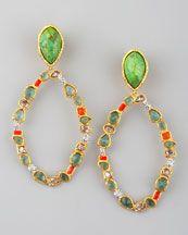 Multicolor Hoop Earrings...neimanmarcus