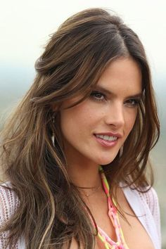 The Hottest Long Hairstyles & Haircuts For 2014 - Alessandra Ambrosio