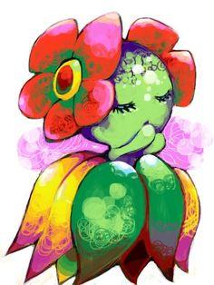 Pokemon Art Bellossom is the cutest pokemon by farrrrrrrr