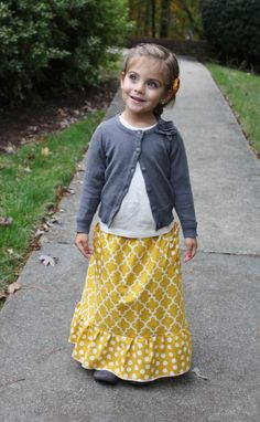 toddler maxi skirt tutorial - quick and easy maxi skirt with pockets